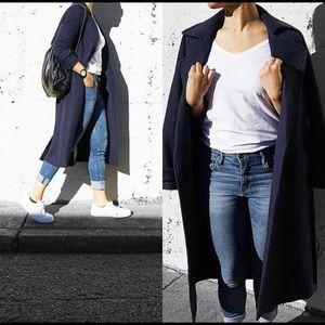 H&M Navy blue wool coat